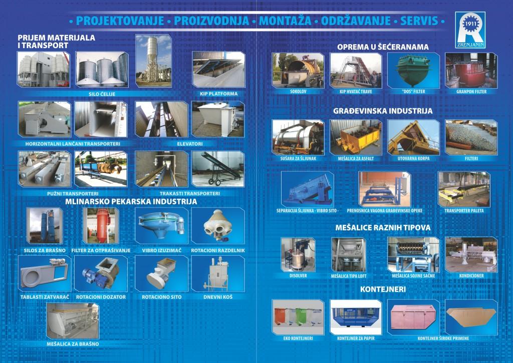 Tehnoradionica Proizvodni program katalog unutrasnje strane