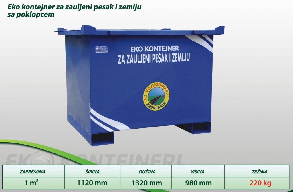 eko kontejneri za zauljeni pesak i zemlju